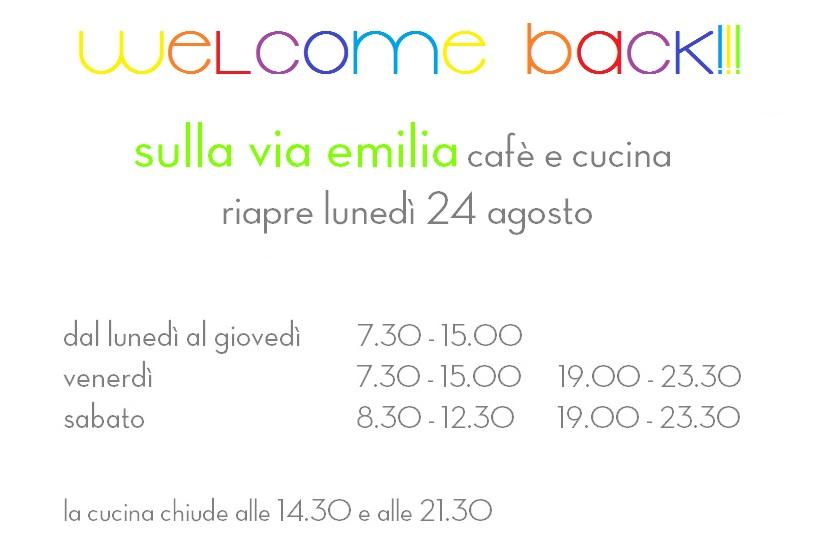 welcome back sulla via emilia